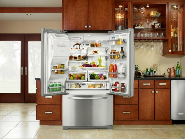 fridge, kitchen appliances